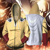 ONE PUNCH-MAN Saitama Hoodie Men Pullover 3D Print Sweatshirt Hooded Jacket Coat