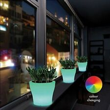 LED Multi-Colour Maceta Florero resistente a la intemperie Jardín Césped Decoración Novedad UK
