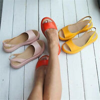 Women Slingback Sandals Ladies Open Toe  Wedge Casual Slippers Flat Shoes Summer