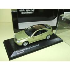 MERCEDES CLASSE C SPORT COUPE 2001 Vert Light Green MINICHAMPS 1:43