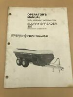 Sperry New Holland 307 Manure Slurry Spreader Operators Manual 1985 Assembly