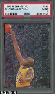 1996-97 Fleer Metal #183 Shaquille O'Neal Los Angeles Lakers HOF PSA 9 MINT