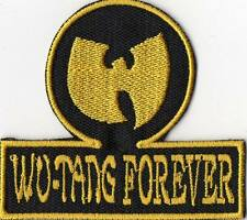 Wu Tang Forever !!! Patch Yellow/Black dimensions cm. 7 x 6