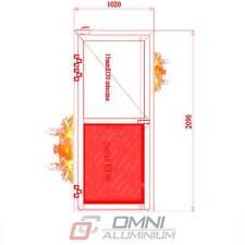 Brandschutz Aluminiumtüre, T30 = Ei30, Brandschutztür, MB78EI 1020 mm x 2090 mm