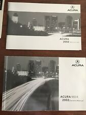 2002 Acura MDX Owners Manuals