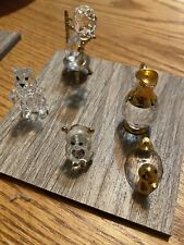Swarovski Crystal Figurines - Fox, Duck, Little Bear, Machine W/ Wheel