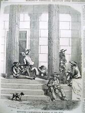 <1851 newspaper ENGRAVING CALIFORNIA GOLD RUSH Philadelphia Mint NUMISMATICS
