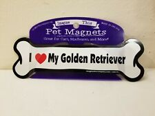 Imagine This Bone Car Magnet, I Love My Golden Retriever, 2-Inch by 7-Inch