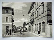 SAN GIORGIO DI NOGARO Via Roma animata Udine vecchia cartolina
