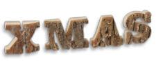 Deko Schrift Buchstaben XMAS - Kiefer mit Rinde Weihnachtsdeko Winterdeko 31 cm