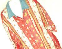 Blouse Delta Burke Jeanswear Vtg Top Plus Sz 20W Boho Festival Floral Denim