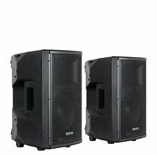 "2x DJ PA 10"" Aktiv Lautsprecher Set Box Bluetooth Monitor Bi-Amping Stereo 400W"