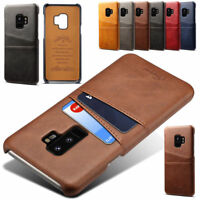 New Slim Leather Case Card Holder Skin Cover For Samsung Galaxy Note 8 S9+ Plus