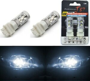LED Light 50W 3157 White 5000K Two Bulbs Rear Turn Signal Park Replace Lamp