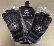 Prime Focus Pivot Black Size 10 Soccer Goalie / Goal Keeping Gloves $59
