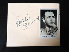 LESLIE STRANGE - POPULAR MUSIC HALL ENTERTAINER - SIGNED VINTAGE ALBUM PAGE