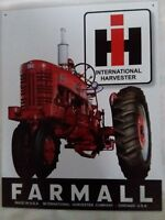 Farmall Sign Tractor 400 IH Farm Vintage Metal Advertising Tin New Made in USA