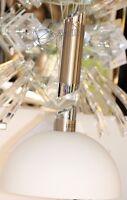 Pendellampe Glas Hängelampe Halogen Pendelleuchte höhenverstellbar Halbkugel