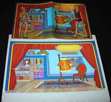 "1960's ORIGINAL WRAPAROUND COVER ART for ""CLASSIC BOUTIQUE"" MOD PAPER DOLL BOOK"