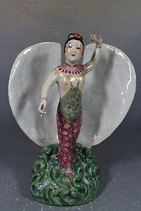 beautiful chinese famille rose porcelain  clamshell Statues