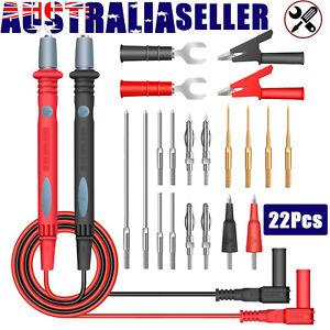 Multimeter Test Lead Kit Electrical Alligator Clip Test Probe Set 22PCS
