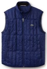 NWT Lacoste Lightweight Built In Hood Quilted Down Packable Vest Sz 52/Large