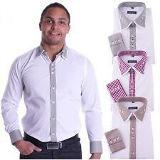 Karierte Maschinenwäsche Klassische Herrenhemden im Button-Down-Kragen-Stil aus Baumwolle