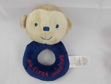 """Carter's Monkey Rattle Plush Ring My First Valentine Blue 5"""""""