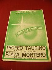 Partition Trofeo Taurino Paso doble C Latiegui Plaza Montero J Castillos