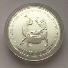 1988 CANADA PROOF SILVER DOLLAR 250TH ANNIVERSARY OF THE SAINT-MAURICE IRONWORKS