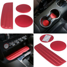 Car Door Cup Mat Gate Slot Pad Bottom Holder Trim For 2015-2018 Ford Mustang #ya