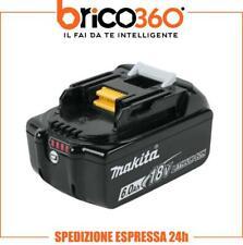 MAKITA BATTERIA ORIGINALE AL LITIO LXT 18V 6Ah BL1860B CON INDICATORE CARICA LED
