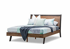 Selena Scandinavian Retro Solid Acacia Oak Timber Double Size Bed Frame Only