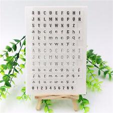 Alphabet Transparent Clear Silicone Stamp Seal DIY Scrapbook Photo Album Craft