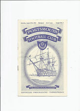 Portsmouth v Blackpool 27 August 1955
