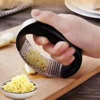 Stainless Steel Manual Garlic Press Crusher Squeezer Masher Kitchen @ami