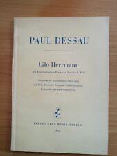 Noten. Dessau. Lilo Herrmann. Partitur.