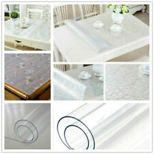 1.5mm Soft Glass PVC Table Protector Cover Mat Tablecloth Desktop Waterproof