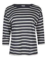 Oliver Bonas Women Sparkle Stripe Navy Blue Top 6