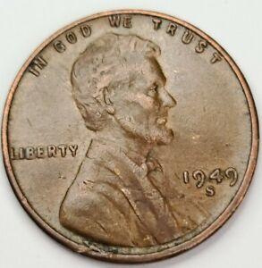1949 S/S/S RPM Lincoln Wheat 1¢ Cent Penny. San Francisco Mint Mark. TRIPLE RPM