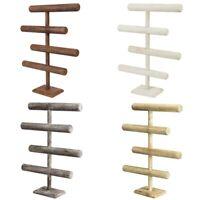 """4 Tier Wooden T-bar Bracelet Chain Jewelry Display Stand 11""""W x 3 7/8"""" x 17 1/8"""""""