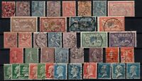 PP135312/ FRANCE STAMPS – YEARS 1900 - 1926 USED SEMI MODERN LOT – CV 177 $