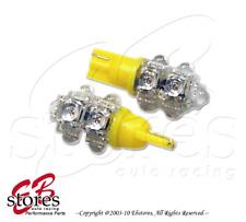 Yellow Trunk Cargo Light 9 Flux Led T10 Wedge Light Bulbs 2pcs 175 2821 (1 Pair)(Fits: Neon)