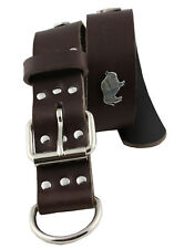 WESTERN-SPEICHER Hundehalsband Leder Indi Braun Größe 43cm - 49cm
