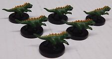 Dungeons and Dragons Miniatures CRESTED FELLDRAKES LOT - 6 D&D/Pathfinder Minis