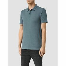 Allsaints Tonic Panel Embroidered Ramskull Slim Fit Polo Shirt  X Small  XS