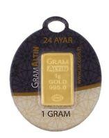 1 gram fine gold bullion bar 24 Carat 1 g 0,995 goldbarren lingotes lingot d'or