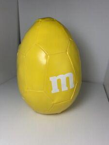 M&M  Original M-Ball Soft Oval Egg Shaped Plush Soccer Ball Easter Toy