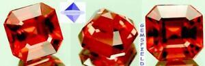 VS - 2.21cts !! ZIRCON de TANZANIE ! rare octogonale rose orangé ! poli AAA++