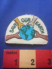 Borderless Environmental SAVE OUR EARTH Planet Patch Multicultural Hands 73X0